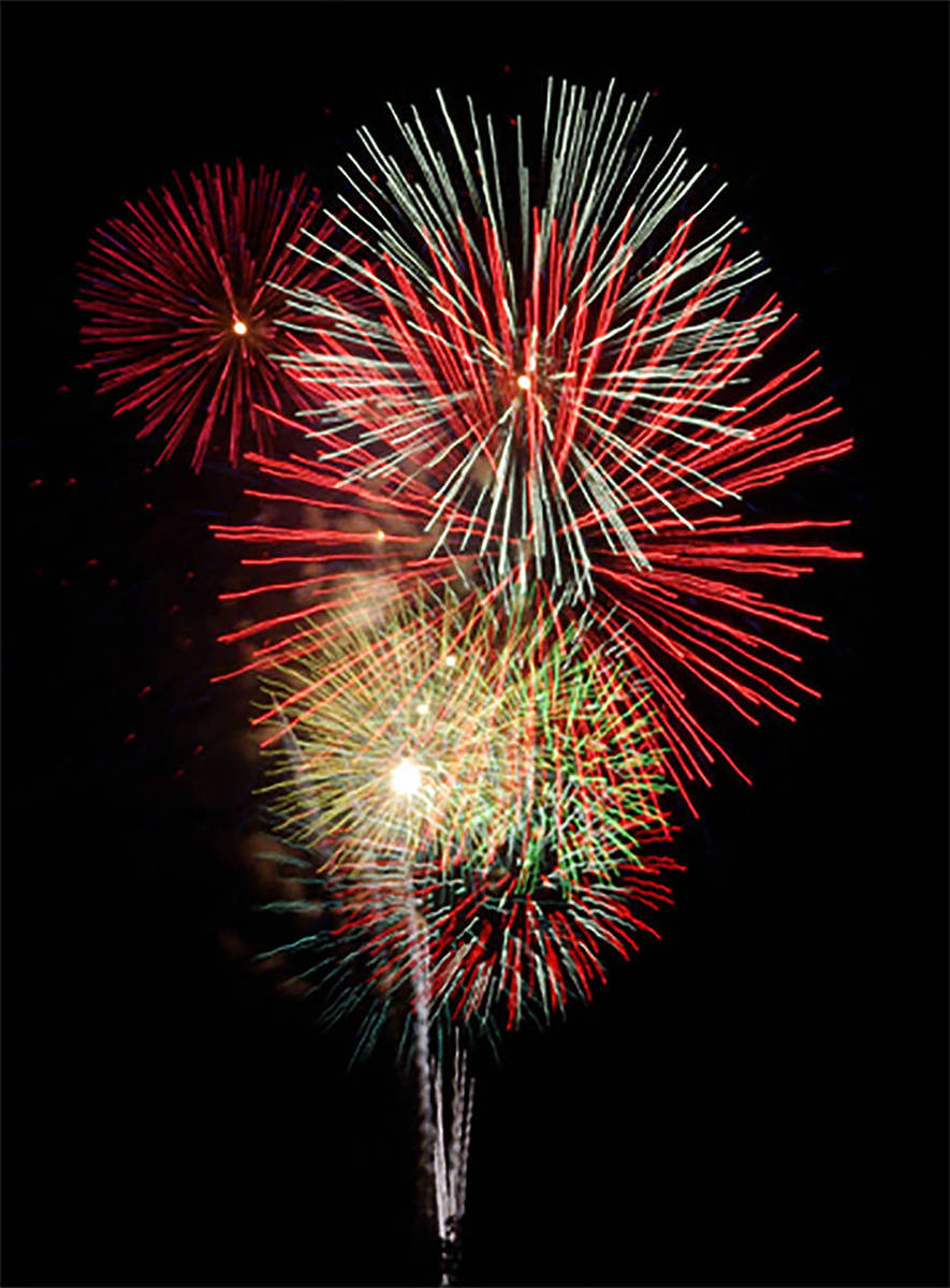 Horace Langford Jr./Pahrump Valley Times The annual Fourth of July Fireworks Show, sponsored b ...