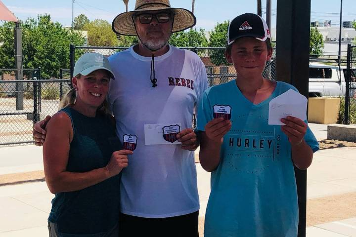 Special to the Pahrump Valley Times June Bug Open division winners, from left, Class B champion ...
