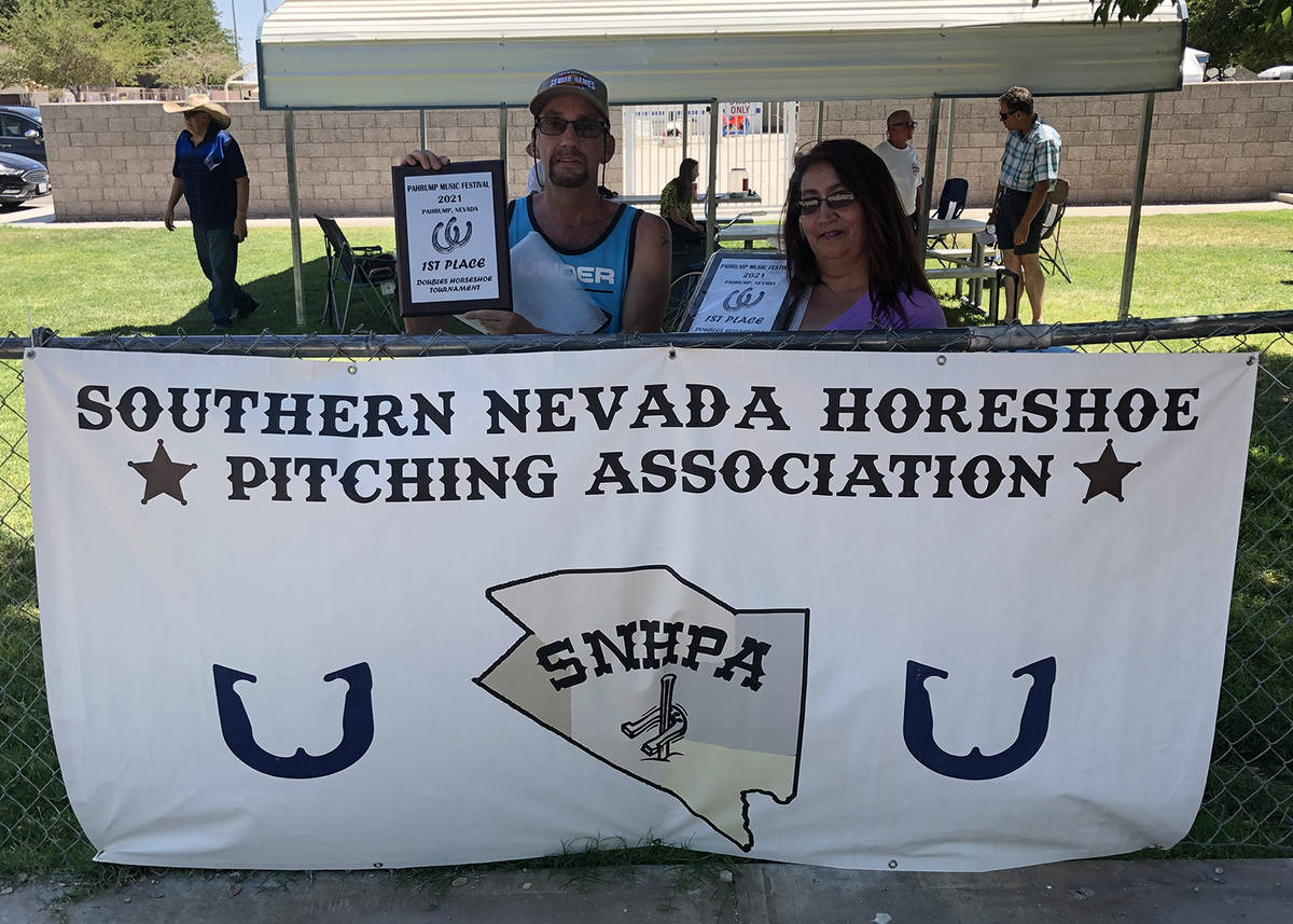 Lathan Dilger/Special to the Pahrump Valley Times Jim Hatch and Robin Nogales of Pahrump won th ...