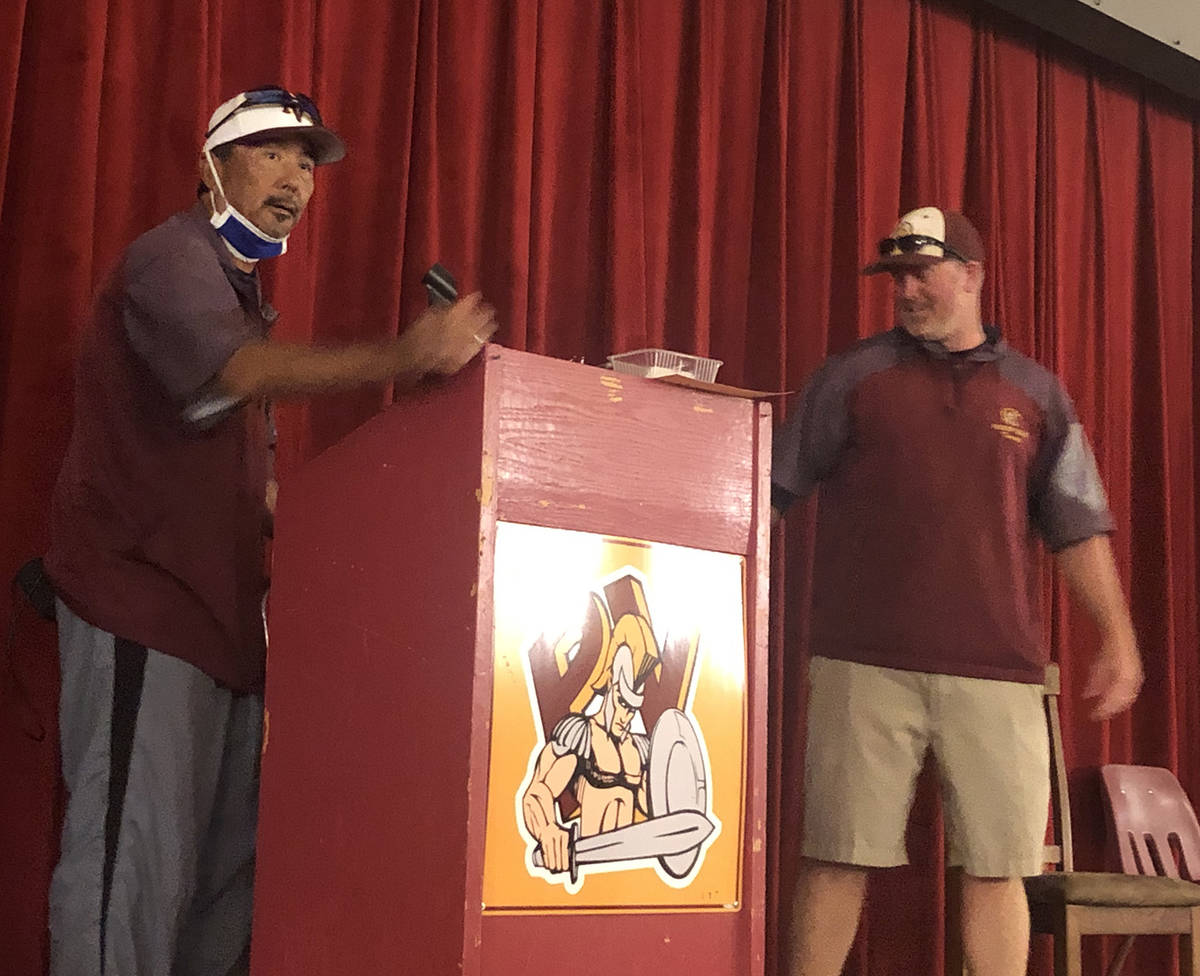 Tom Rysinski/Pahrump Valley Times Former Pahrump Valley High School baseball coach Brian Hayes, ...