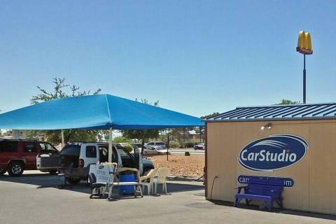Special to the Pahrump Valley Times Car Studio car wash, which had stood in the corner of the P ...