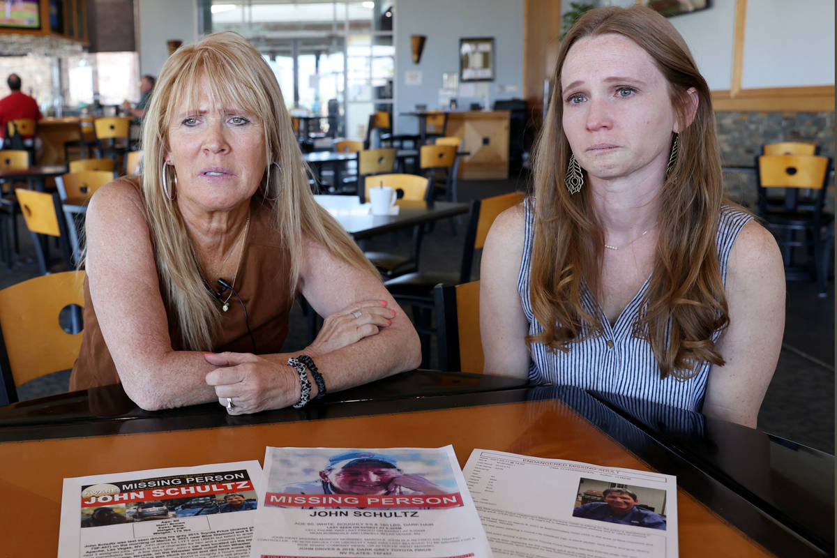 John Schultz's wife, Barbara Schultz, left, and daughter, Nicole Doering, talk about their miss ...