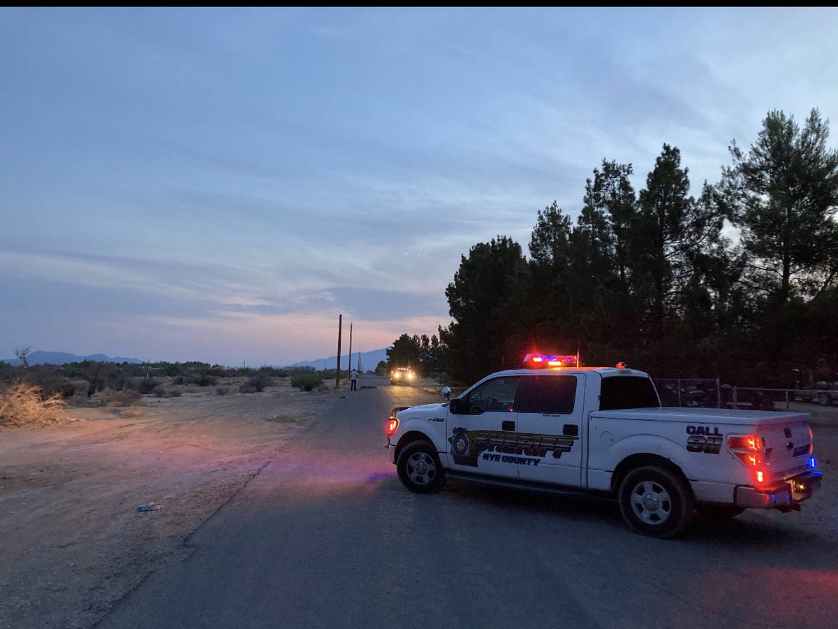 Nye County Sheriff's Office Money Street, between Keenan Way and Kellogg Road, was closed in t ...