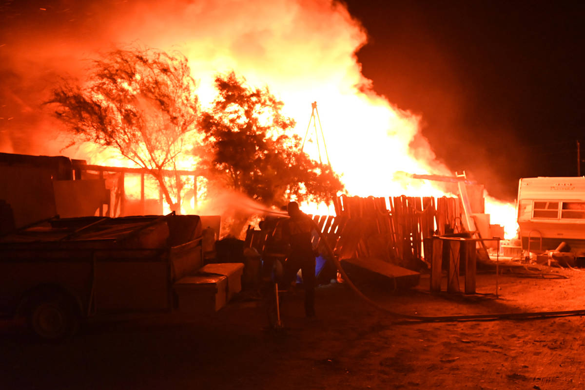 Special to the Pahrump Valley Times On Wednesday evening, June 9, fire crews were dispatched to ...