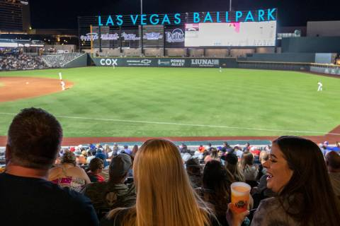 Ellen Schmidt/Las Vegas Review-Journal Fans filled Las Vegas Ballpark to watch the Las Vegas Av ...