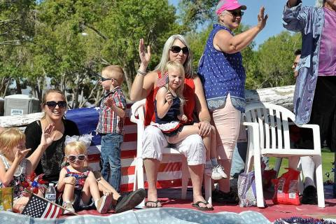 Horace Langford Jr./Pahrump Valley Times This file photo shows a family enjoying a past Fourth ...