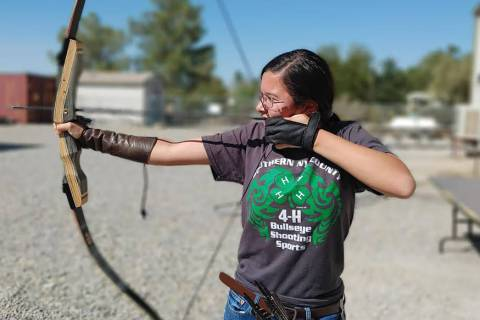 Stormy Ingersoll/Special to the Pahrump Valley Times This photo shows a local 4-H Bullseye Shoo ...