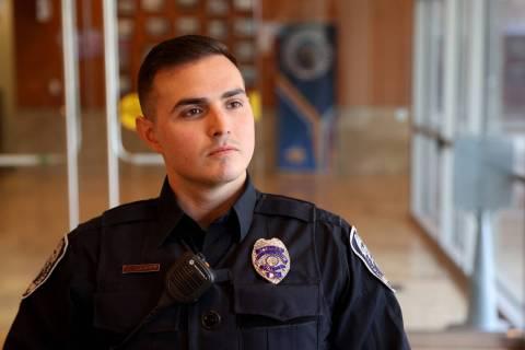 North Las Vegas Police Public Information Officer Alexander Cuevas talks about distracted drivi ...