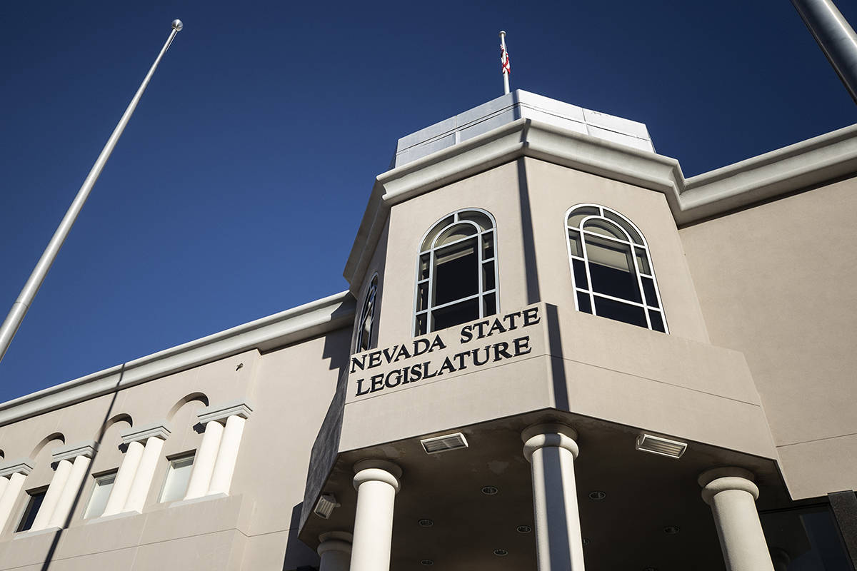 Benjamin Hager/Las Vegas Review-Journal The Nevada State Legislature Building in Carson City is ...