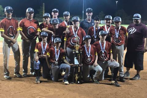 Tom Rysinski/Pahrump Valley Times The Pahrump Valley Little League Junior All-Stars, including ...