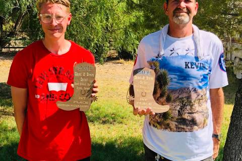 Lathan Dilger/Special to the Pahrump Valley Times Kasey Dilger, left, and Kevin Chael of Pahrum ...