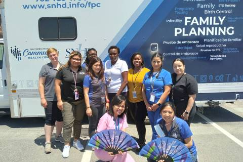 Selwyn Harris/Pahrump Valley Times Health professionals from the Southern Nevada Community Heal ...
