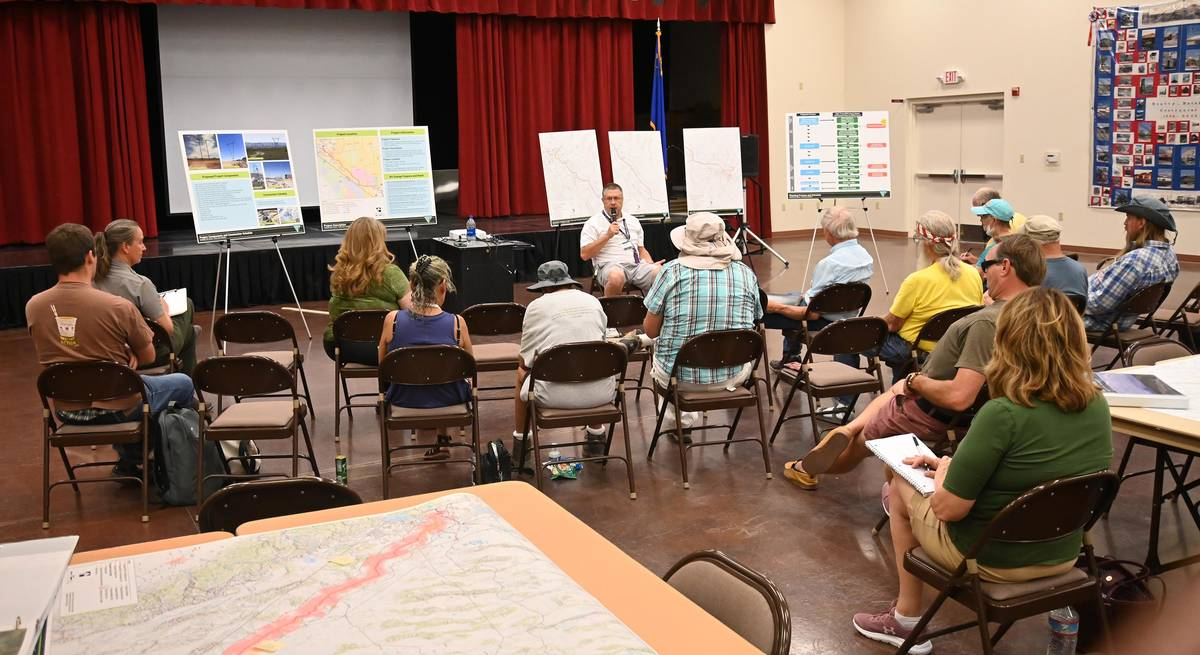 Richard Stephens/Special to the Pahrump Valley Times Greg Helseth answers questions in the fir ...
