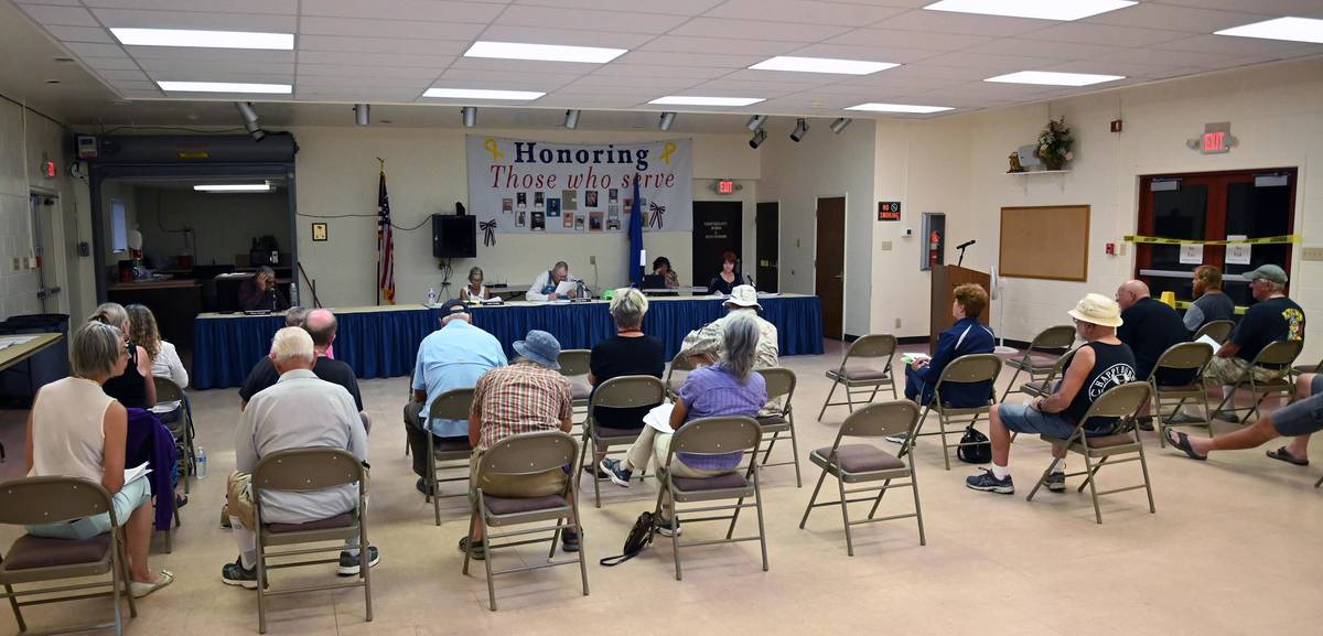 Richard Stephens/Special to the Pahrump Valley Times Locals attend a June 29, 2021 meeting of ...