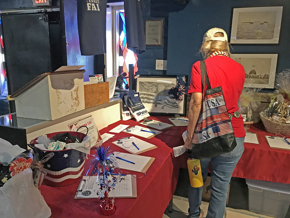Robin Hebrock/Pahrump Valley Times There were all sorts of silent auction items for people to b ...