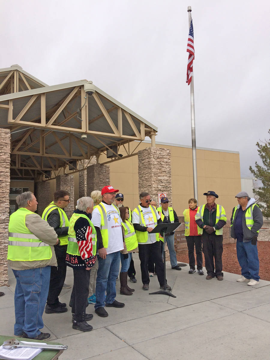 Robin Hebrock/Pahrump Valley Times This file photo from January 2019 shows members of the New N ...