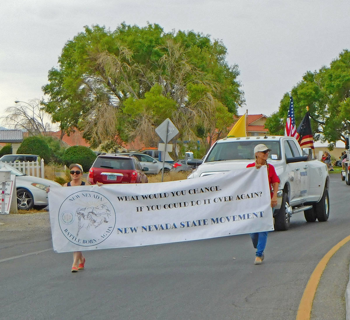 Robin Hebrock/Pahrump Valley Times To help raise awareness about their efforts and show their p ...