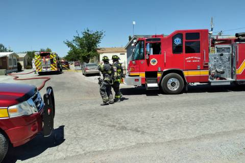 Selwyn Harris/Pahrump Valley Times No injuries were reported following a structure fire on Vega ...
