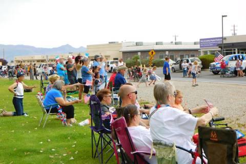 Robin Hebrock/Pahrump Valley Times The Pahrump Holiday Task Force's inaugural Fourth of July Pa ...