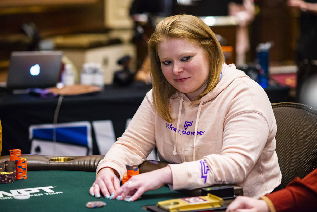Kyna England on the way to taking third place at a World Poker Tour event at the Venetian on We ...