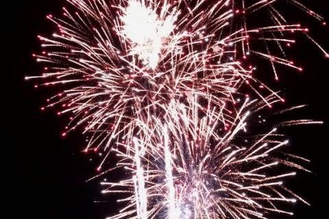 Charlotte Uyeno/Pahrump Valley Times The local fireworks spectacular was once again put on by l ...