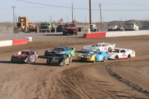 File photo A Super Stocks race at Pahrump Valley Speedway during the 2020 racing season.