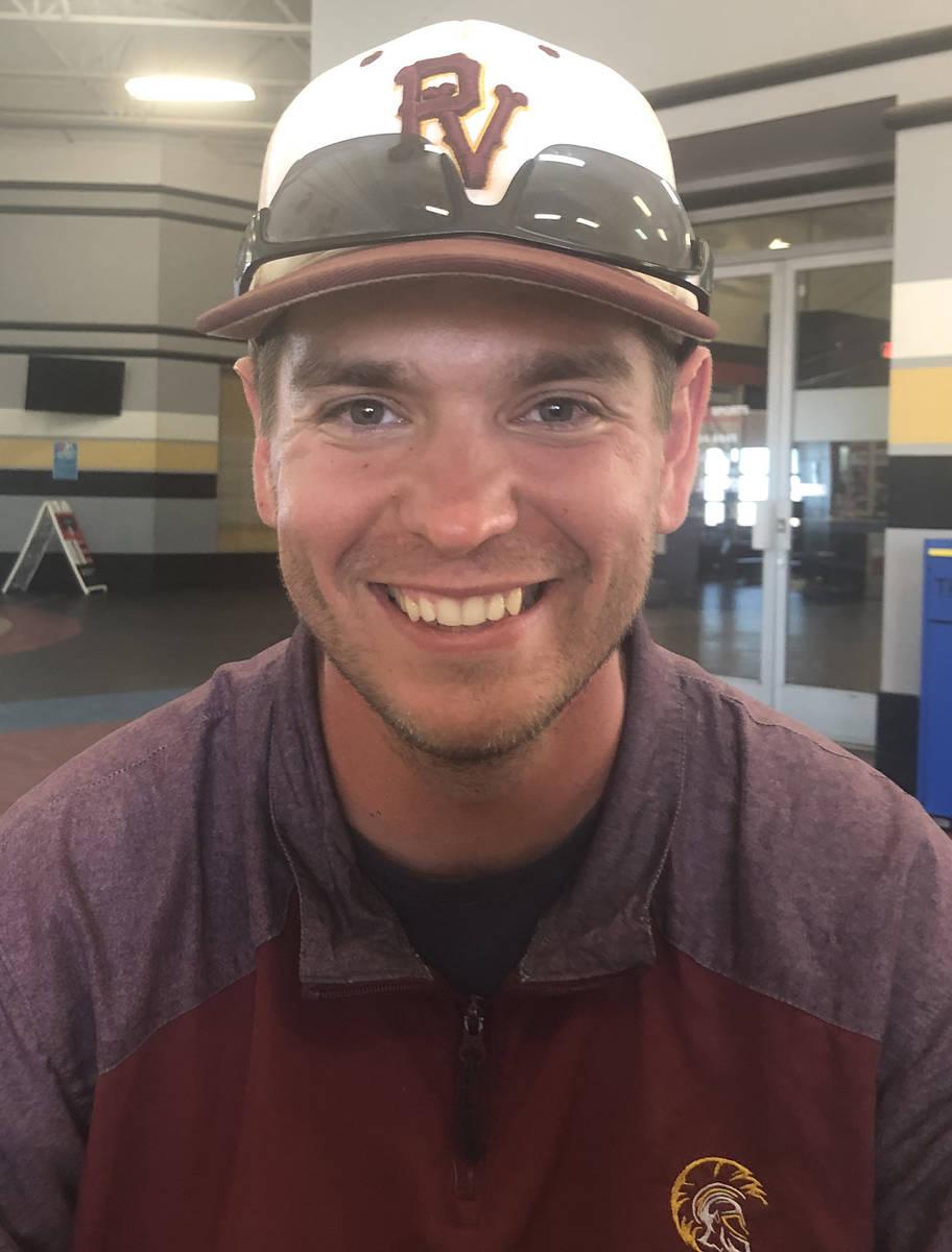 Tom Rysinski/Pahrump Valley Times Pahrump 18U an 14U manager Drew Middleton talks about the sum ...