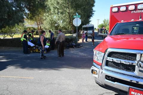 Special to the Pahrump Valley Times One person was transported by Mercy Air to UMC Trauma follo ...