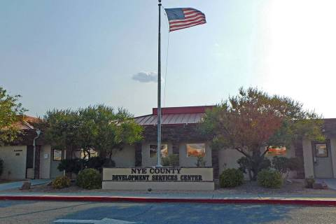 Robin Hebrock/Pahrump Valley Times The Nye County Development Services Center is home to the co ...