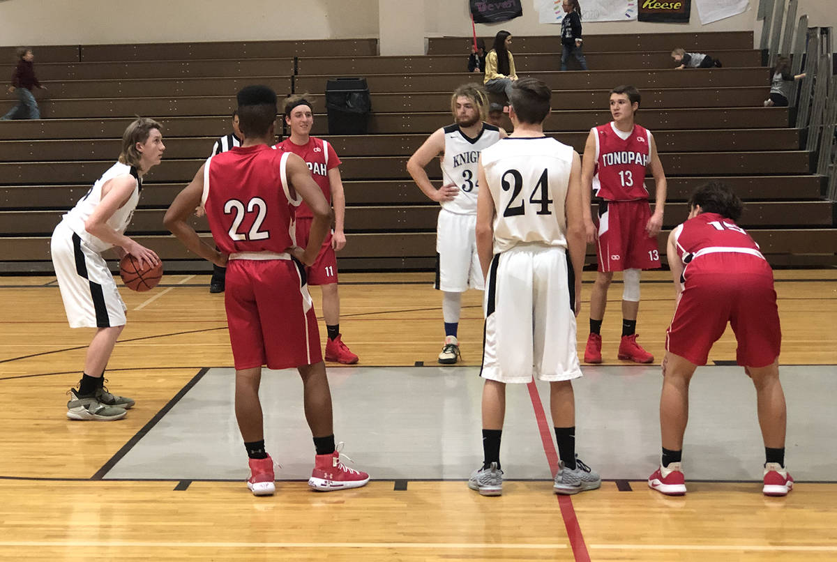 File photo Junior Colter Jensen lines up for a free throw for Round Mountain during a 2020 game ...