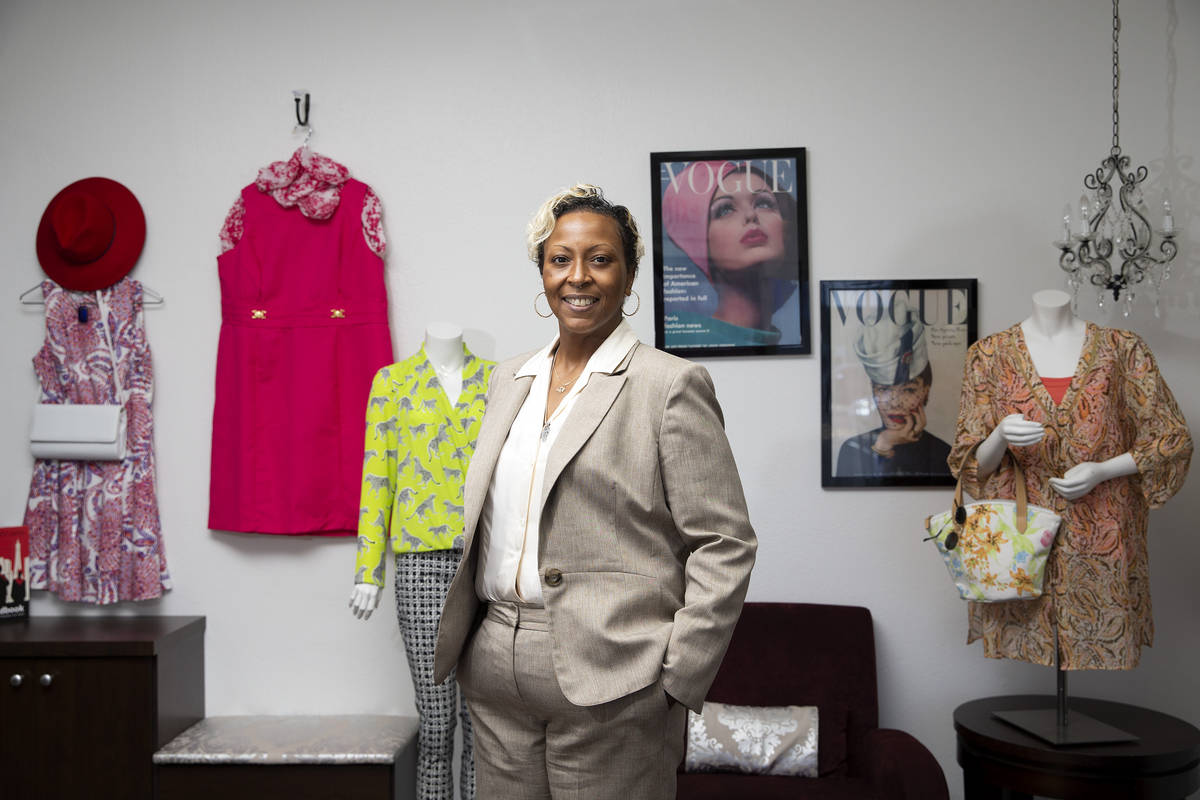 Kenya Mills, a Dress for Success client, at nonprofit Dress for Success Southern Nevada on Tues ...