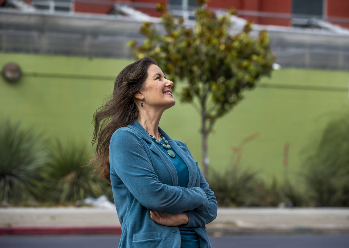 Oakland Mayor Libby Schaaf, right, at a press conference as Oakland's essential workers break ...