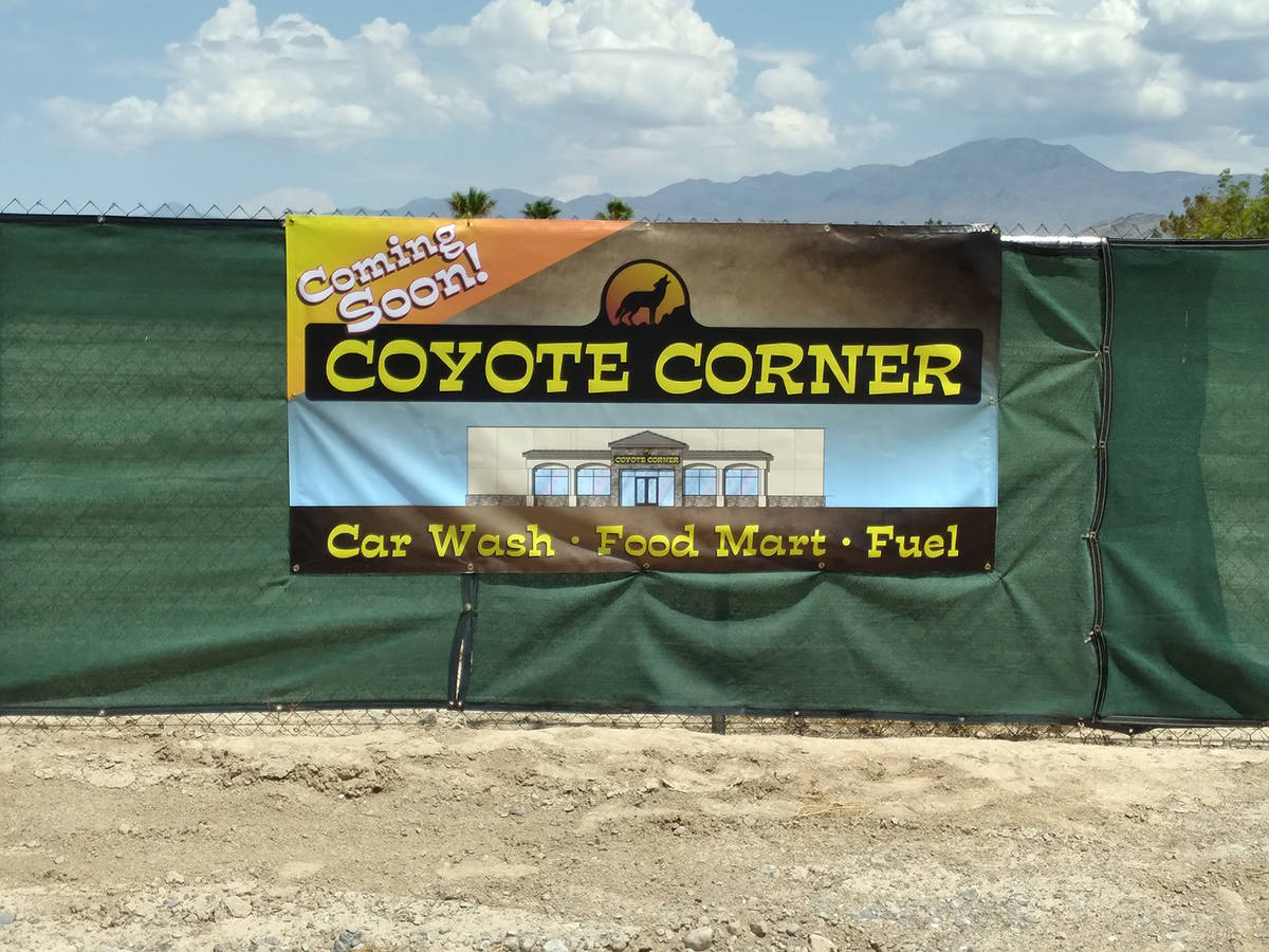 Selwyn Harris/Pahrump Valley Times Construction on a third Coyote Corner at the intersection of ...
