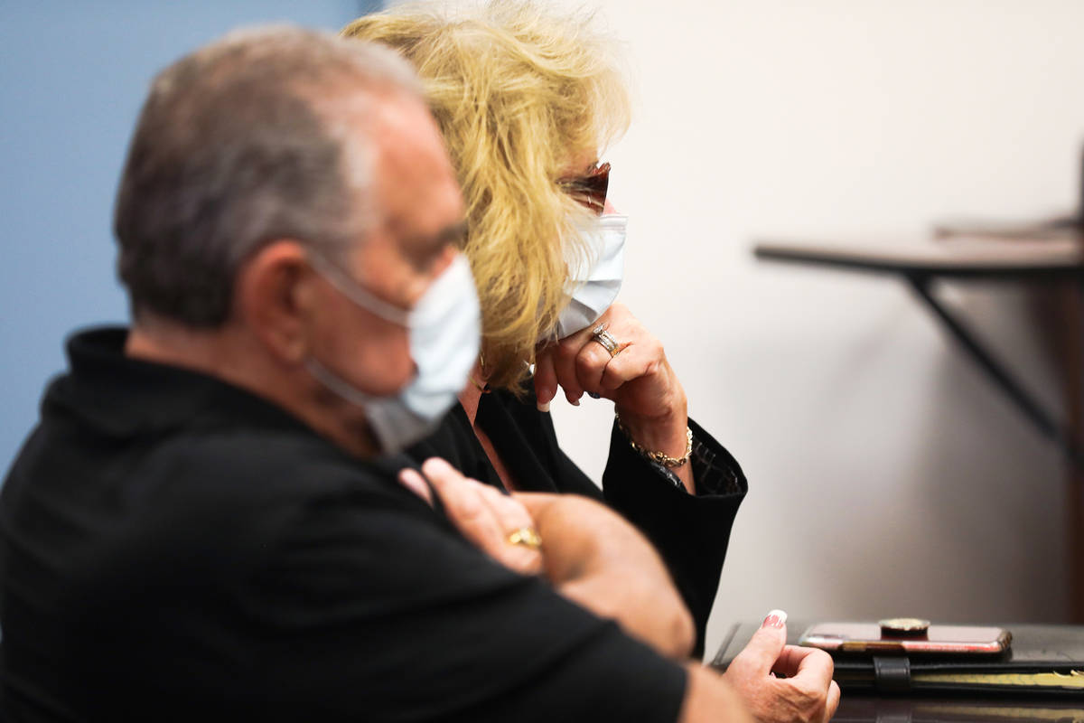 Patricia Chappuis and her husband Marcel Chappuis listen to the judge during a hearing at Beatt ...