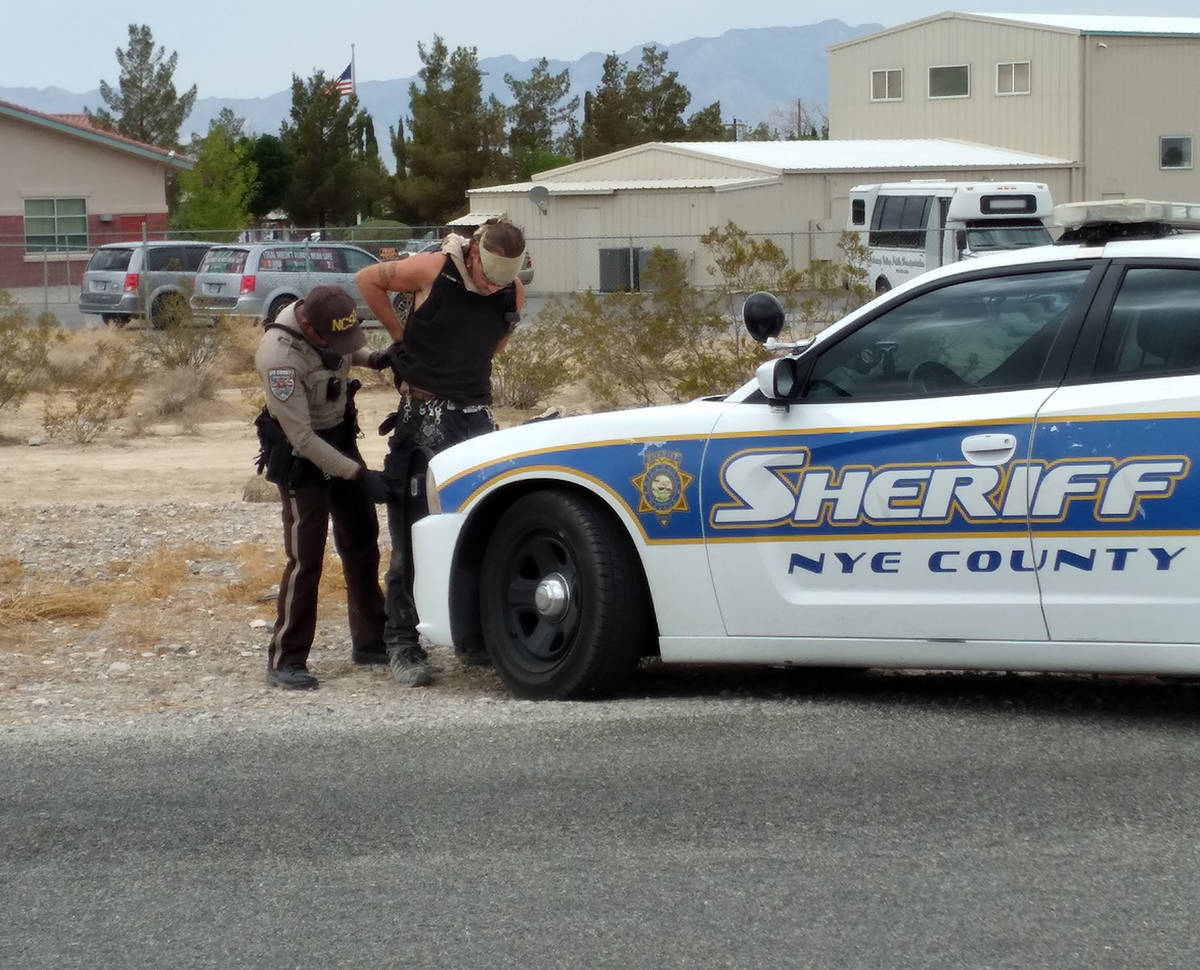 Selwyn Harris/Pahrump Valley Times A Nye County Sheriff's Office deputy recovered a firearm fro ...