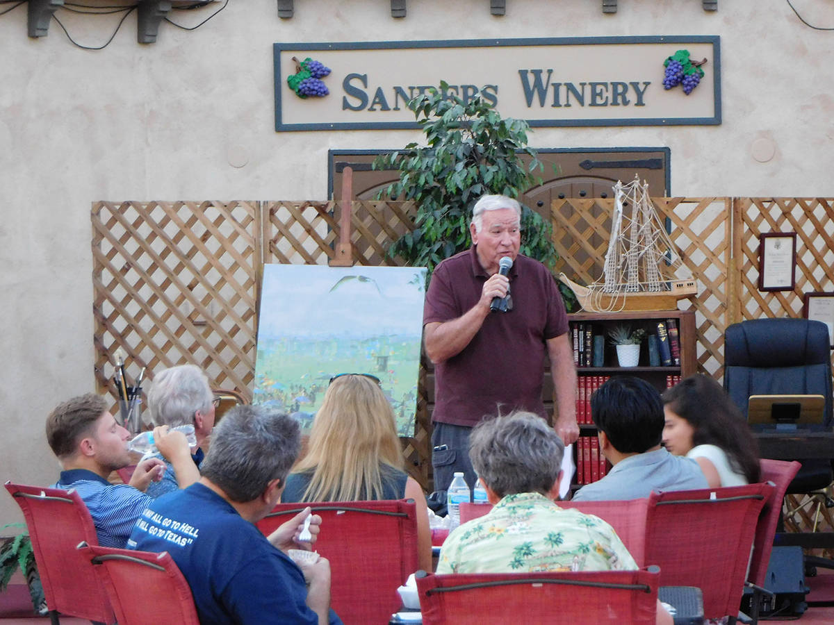 Robin Hebrock/Pahrump Valley Times Jack Sanders of Sanders Family Winery was pleased to offer h ...