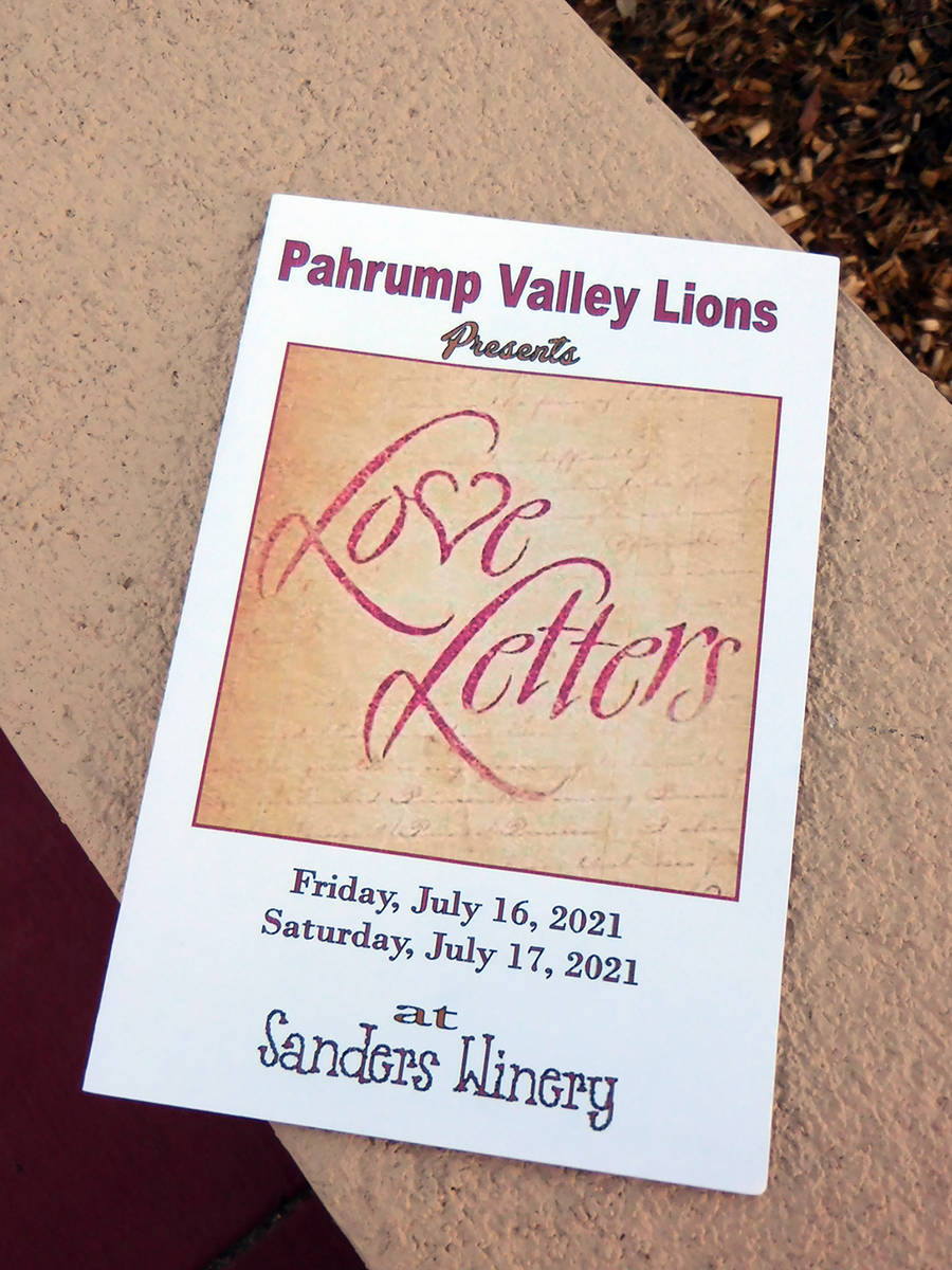 """Robin Hebrock/Pahrump Valley Times The play """"Love Letters"""" was selected for the Lions Club's mo ..."""