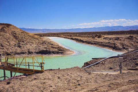 Getty Images Pictured are brine pools for lithium carbonate mining, a resource development act ...