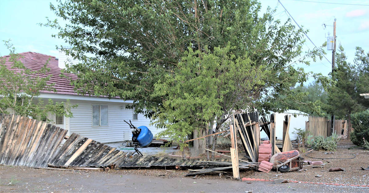 Special to the Pahrump Valley Times Reader Randy Gulley shared this photo of damage sustained b ...