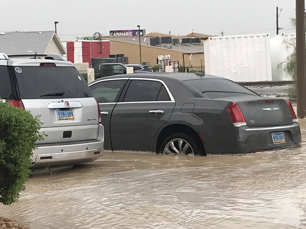 Special to the Pahrump Valley Times Monday's storm brought extensive flooding to the valley, wi ...