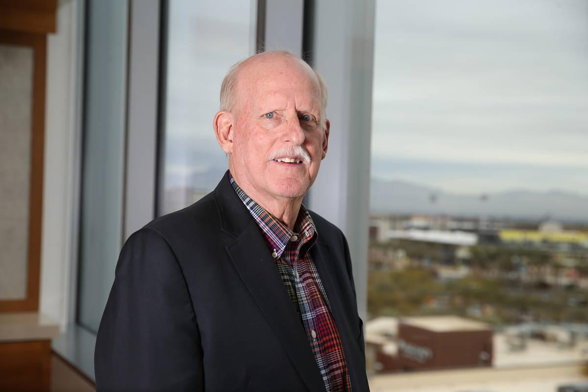 Attorney Chris Kaempfer, seen at the Kaempfer Crowell law office in Las Vegas in 2018. (Erik Ve ...