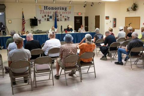 Richard Stephens/Special to the Pahrump Valley Times More than a dozen people attend the Beatt ...