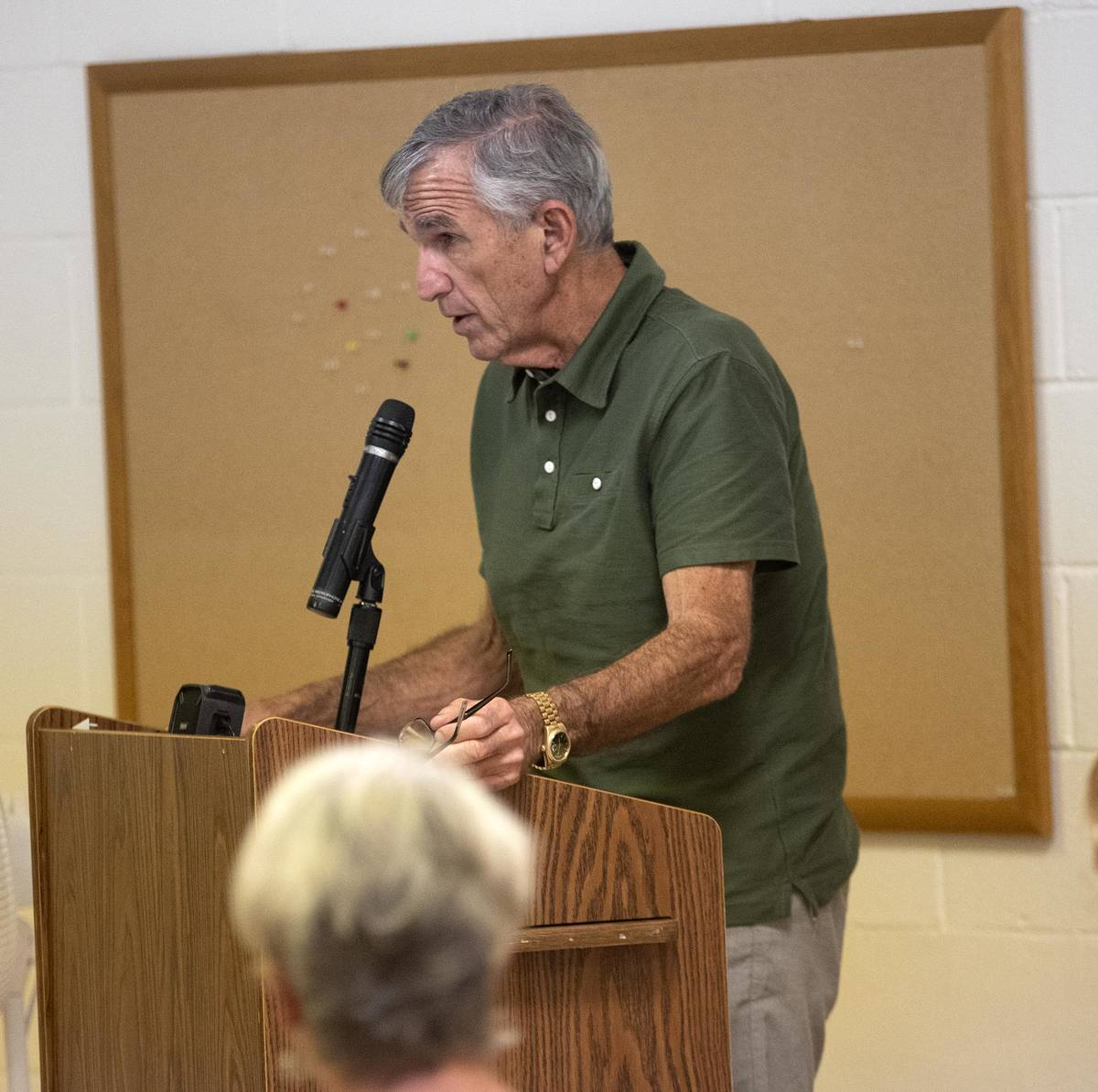 Richard Stephens/Special to the Pahrump Valley Times Ed Ringle, businessman and Beatty Water a ...