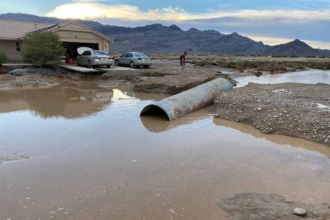 Special to the Pahrump Valley Times This photo, provided by Nye County, shows a broken culvert ...