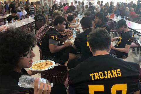 Tom Rysinski/Pahrump Valley Times The annual Pahrump Valley High School Football team fundraise ...