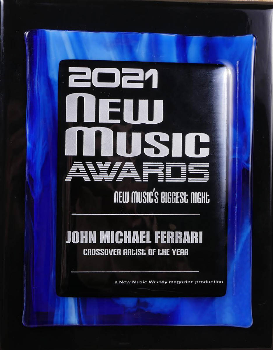 Special to the Pahrump Valley Times John Michael Ferrari was named Crossover Artist of the Year ...