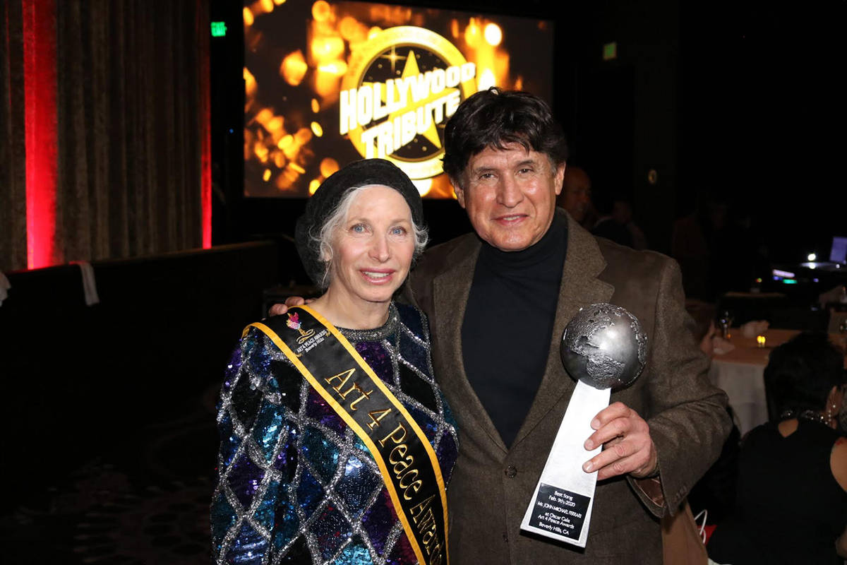Special to the Pahrump Valley Times John Michael Ferrari is pictured with his producer Pepper Jay.