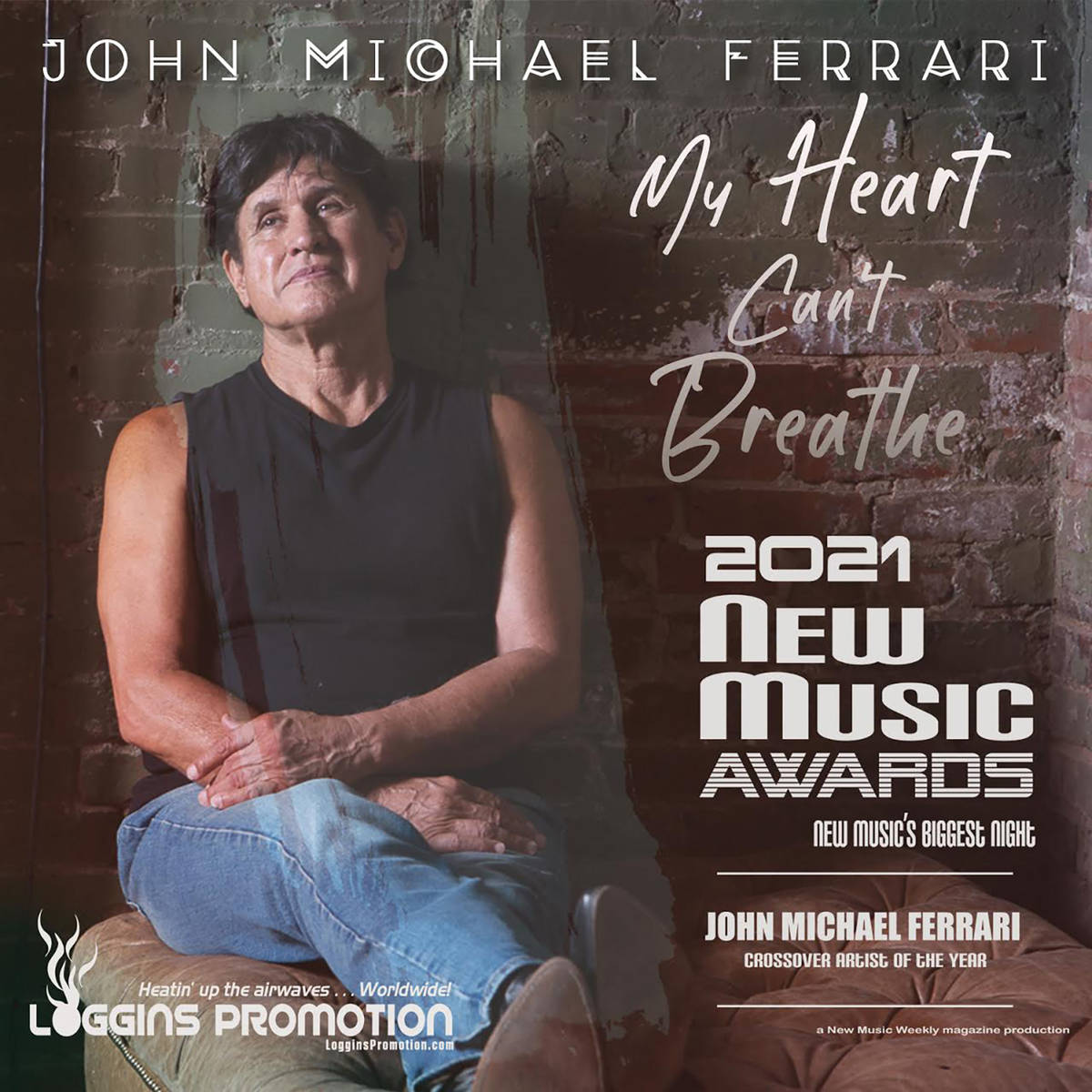 """Special to the Pahrump Valley Times John Michael Ferrari's newest song """"My Heart Can't Breathe"""" ..."""