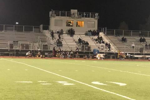 Tom Rysinski/Pahrump Valley Times Few fans allowed in the stadium and social distancing combine ...