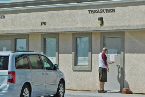 Robin Hebrock/Pahrump Valley Times The Nye County Treasurer's Office in Pahrump, shown here, is ...